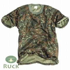 T-Shirt, Kinder flecktarn neu