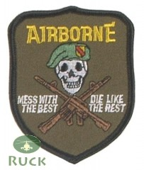 """Abzeichen, """"US Airborne-mess with the best"""""""