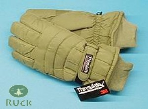 Thermo Fingerhandschuhe, Thinsulate oliv neu